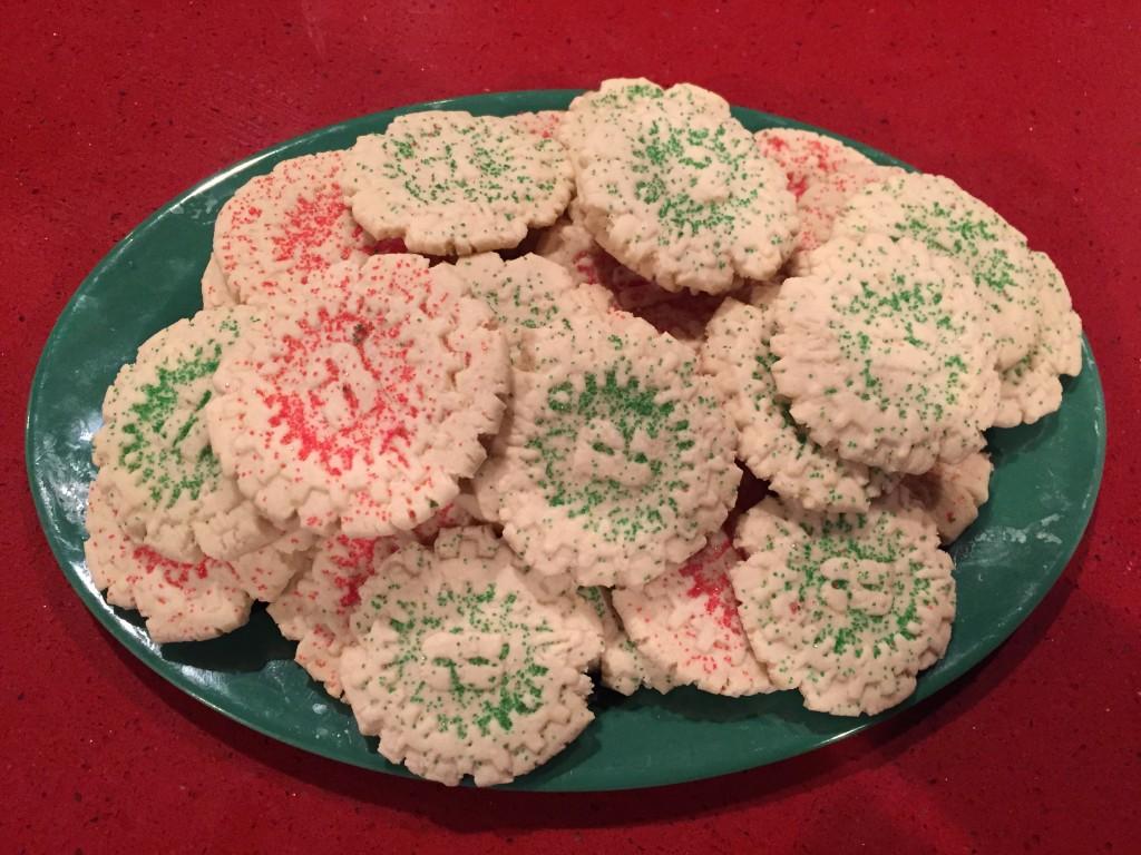santa cog cookies